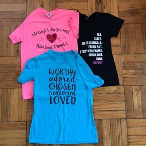 Graphic tee shirt bundle nursing medical worthy
